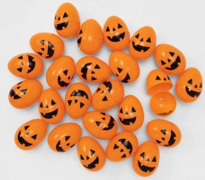 24ct Orange Printed Scavenger Hunt Halloween Fillable Eggs