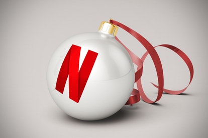 A Christmas ornament with the Netflix logo