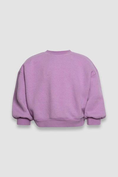 lilac purple kids pullover sweatshirt from gender neutral line, Senna Case