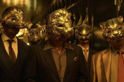 The 'Squid Game' VIPs wear masks perfect for Halloween.