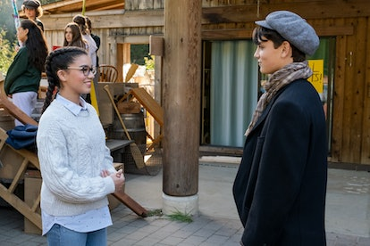 MALIA BAKER as MARY ANNE SPIER and RIAN MCCRIRICK as LOGAN BRUNO in Season 1 of THE BABY-SITTERS CLU...