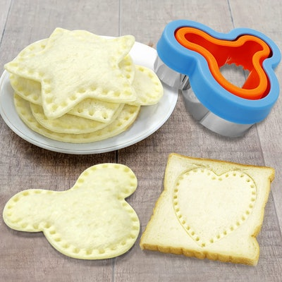 Stainless Steel Sandwich Cutters, Mouse Head, Circle, Star, Heart