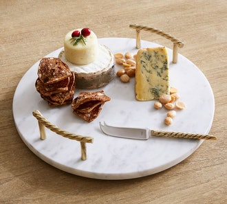 Monique Lhuillier Marble Cheese Board & Knife Gift Set