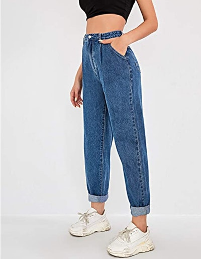 Floerns High-Waisted Mom Jeans