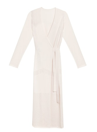 Ivory cashmere robe from Fleur du Mal.