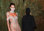 Kendall Jenner & Kim Kardashian at the 2021 Met Gala meme, which pairs perfectly with one zodiac sig...