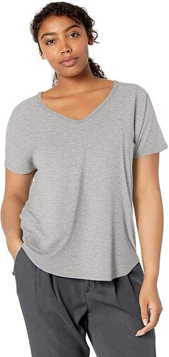 Daily Ritual Jersey Short-Sleeve V-Neck Longline T-Shirt