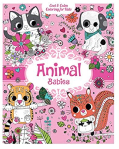 A coloring book filled with animal babies