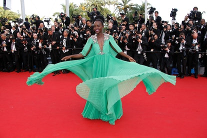 Lupita Nyong'o wears Gucci to the Cannes Film Festival.