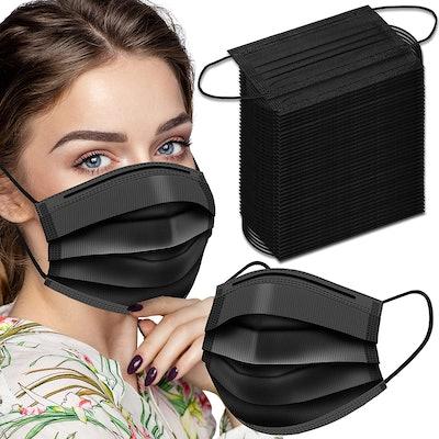 Bingfone Black Disposable Face Masks (100 Pack)