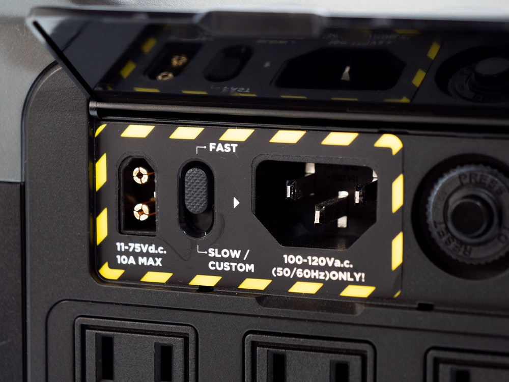 The charging panel on the Delta Mini.