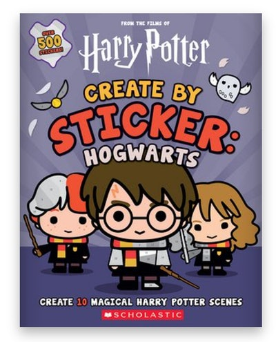Cover art for 'Harry Potter: Create by Sticker: Hogwarts'