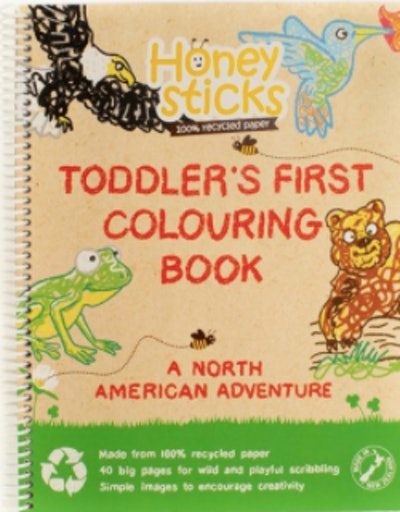 A toddler's first coloring book