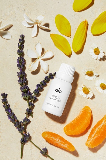 Alo Yoga Alo Wellness essential oil blend flatlay