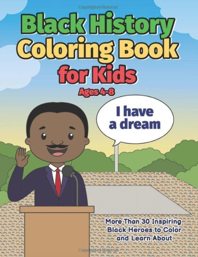 Black history coloring book for kids
