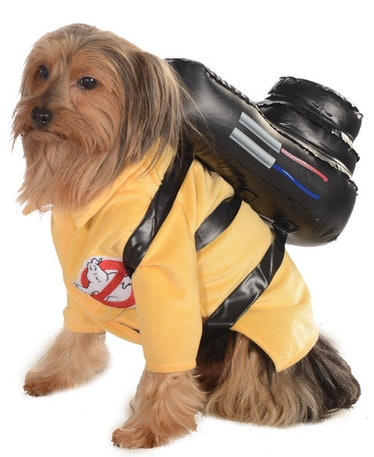 This Ghostbuster costume is part of the Halloween Express 2021 pet costumes collection.