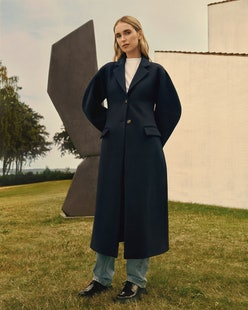 Model wears outfit from Pernille x Mango.