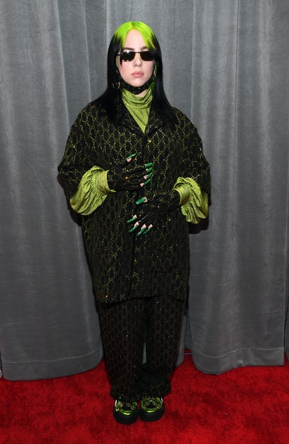 Billie Eilish wears Gucci to the 62nd Annual GRAMMY Awards.