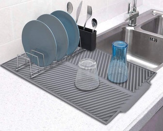 Talented Kitchen Self Draining Silicone Drying Mat