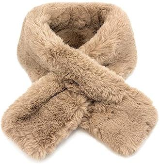 OCT17 Fake Faux Fur Loophole Scarf