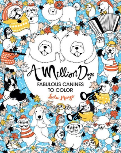 A coloring book of dog illustrations