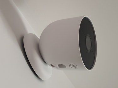 Google Nest Cam with battery mounted
