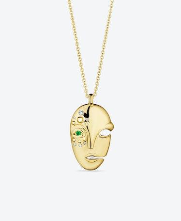 Gold Mask Pendant