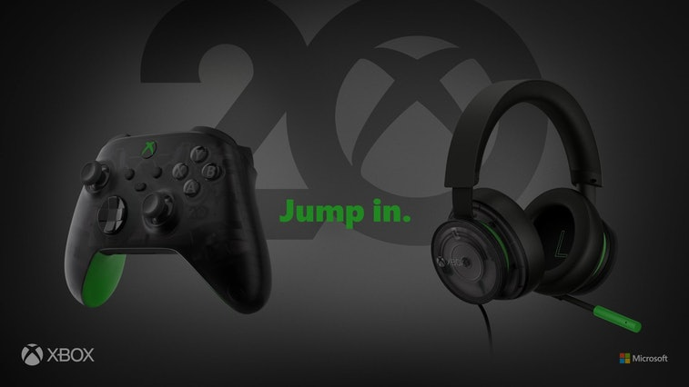 Xbox translucent headset and controller for 20th anniversary