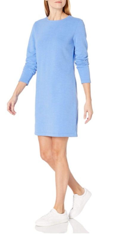 Amazon Essentials Crewneck Long-Sleeve Fleece Dress