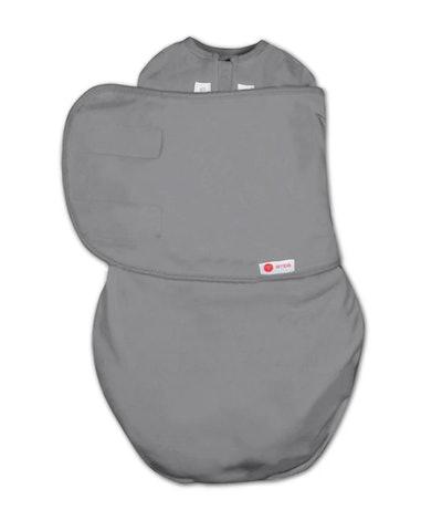 Flat lay of swaddle sleep sack