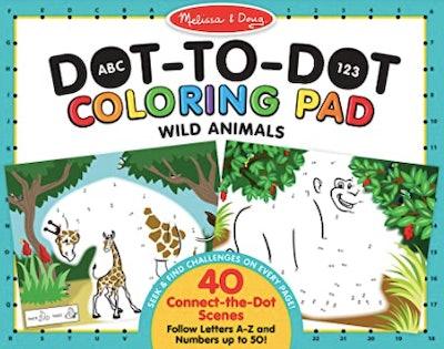 A dot to dot Melissa & Doug coloring book