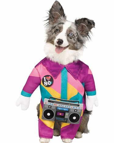 This '80s-inspired costume is part of the Halloween Express 2021 pet costumes collection.