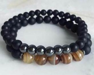 Hematite and Agate bracelet