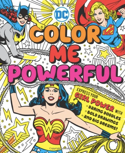 A coloring book all about superheroes