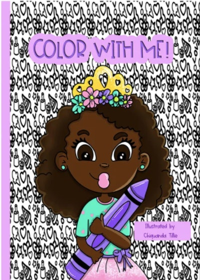 A natural hair coloring book