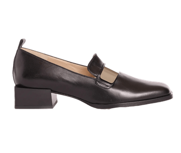 Max Metallic-Strap Leather Loafers