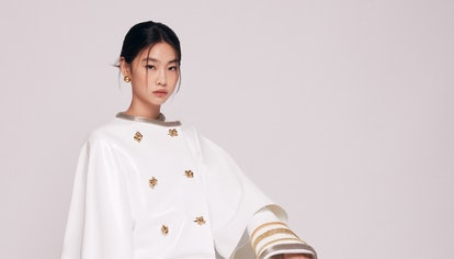 HoYeon Jung's promotional photo as the new global ambassador for Louis Vuitton.