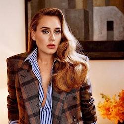 Adele in plaid blazer for Vogue U.S.