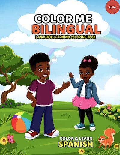 Bilingual coloring book in Spanish