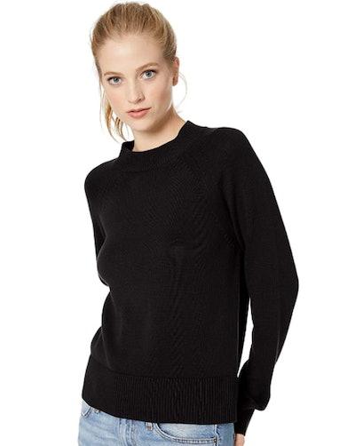 Daily Ritual Cotton Mock-Neck Sweater