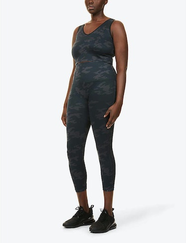 Look At Me Now Cropped High-Rise Stretch-Woven Leggings