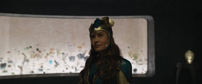Though Ajak is a male character in the comics, Salma Hayek plays her on-screen. Photo via Marvel Stu...
