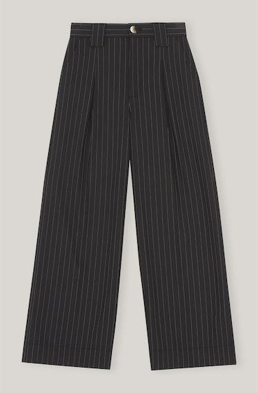 GANNI's stripe wide pants.