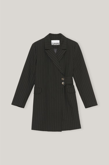 GANNI's striped blazer.