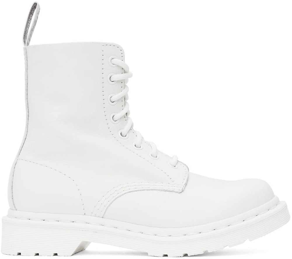White 1460 Pascal Boots