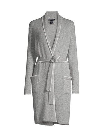 Cashmere Piped Belted Robe from Sofia Cashmere, available to shop on Saks Fifth Avenue.