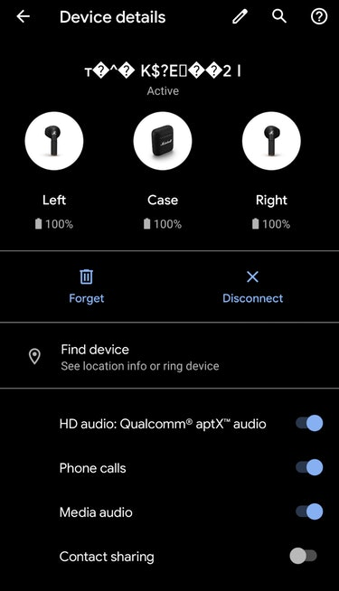 Marshall Minor III Bluetooth name is strange