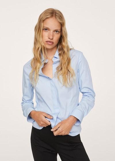 Blue Button-up Shirt