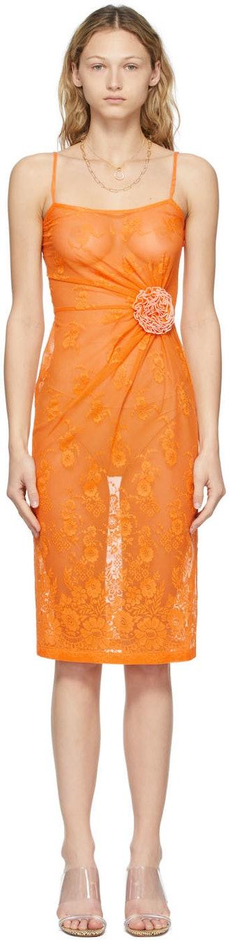 Orange Lace Fervor Dress