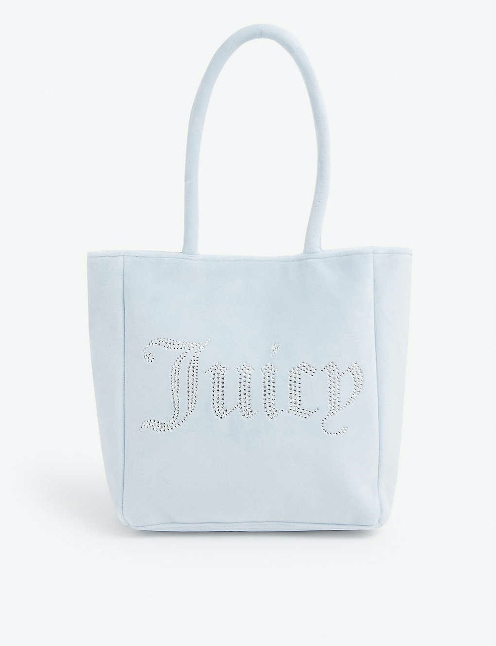 Delilah Crystal-Embellished Velour Tote Bag